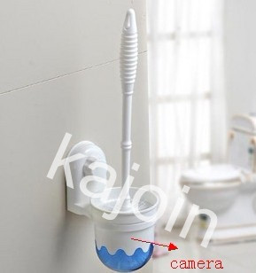 kajoin 1280X960 Toilet Brush bathroom spy Camera With Motion Detection and Remote Control 16GB